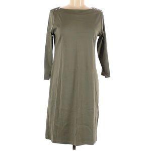 Karen Scott Sport 3/4 Sleeve Dress Green